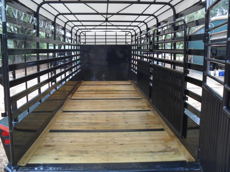 "2019 Top Hat Trailers 24 x 68"" Bar top Livestock Trailer"