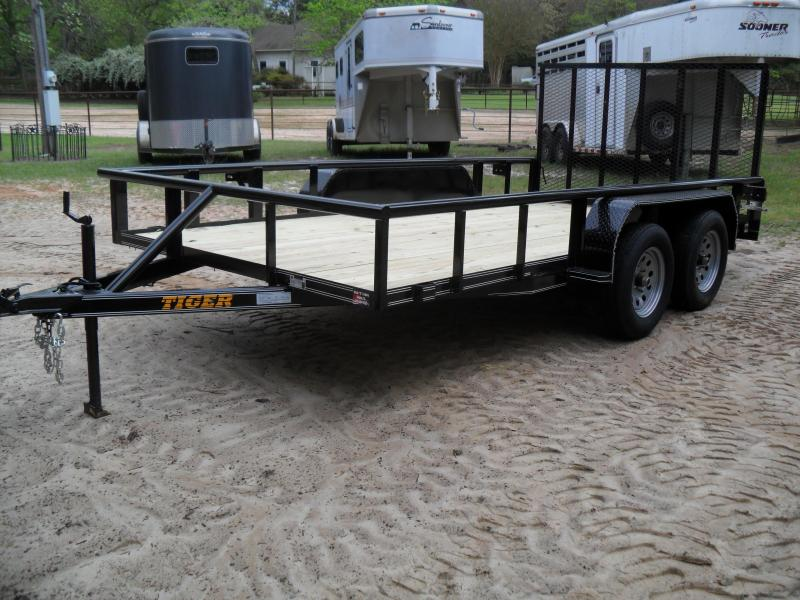 "2020 Tiger 14' x 83"" Tandem axle pipe top Utility Trailer"