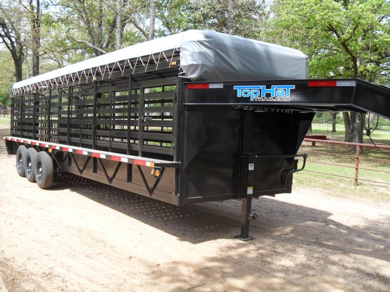 "2020 Top Hat Trailers 28' x 6'8"" bar top Livestock Trailer"