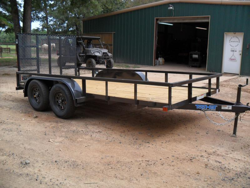 2019 Top Hat Trailers 14 x 77 tandem axle Utility Trailer
