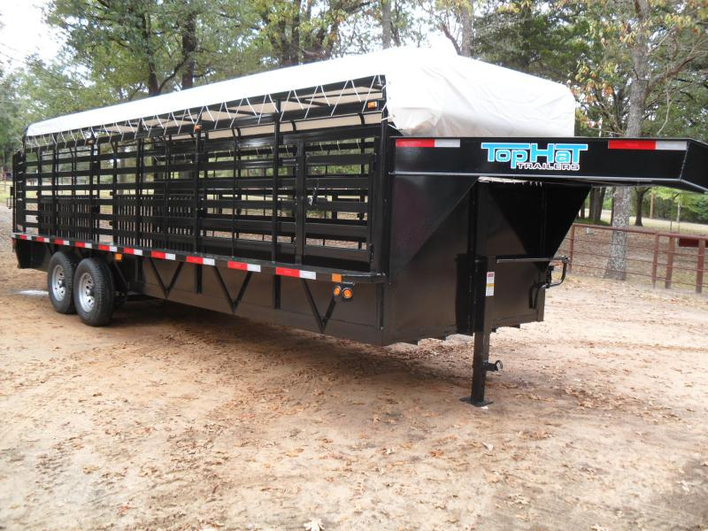 2020 Top Hat Trailers 24 x 68 Bar top Livestock Trailer