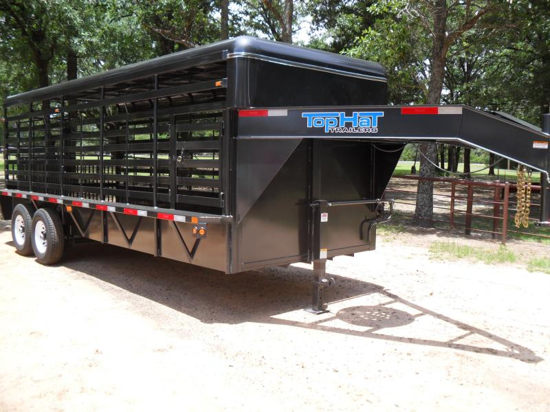 2019 Top Hat Trailers 20 x 68 Metal top Livestock Trailer