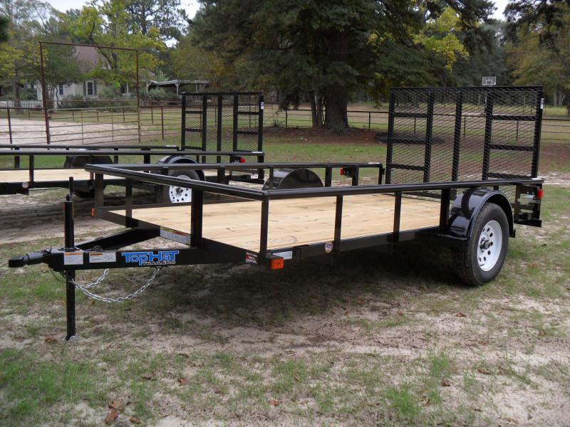 "2020 Top Hat Trailers 12' x 77"" pipe top Single axle Utility Trailer"