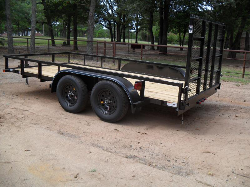 "2019 Top Hat Trailers 12' x 77"" Tandem axle Utility Trailer"
