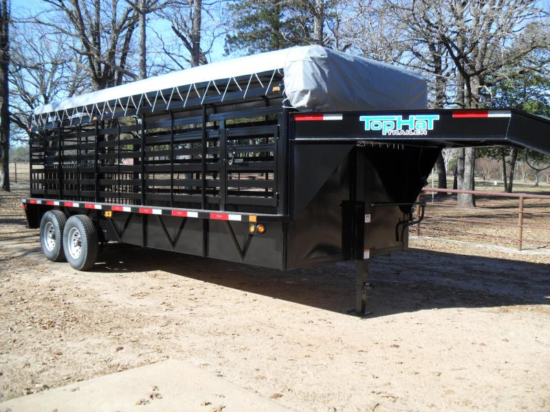 "2020 Top Hat Trailers 20' x 6'8"" Bar Top Livestock Trailer"