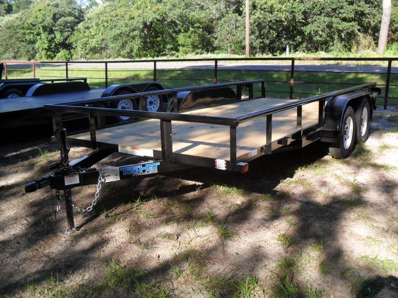 2019 Top Hat Trailers 16 x 83 Pipe Top Utility Trailer