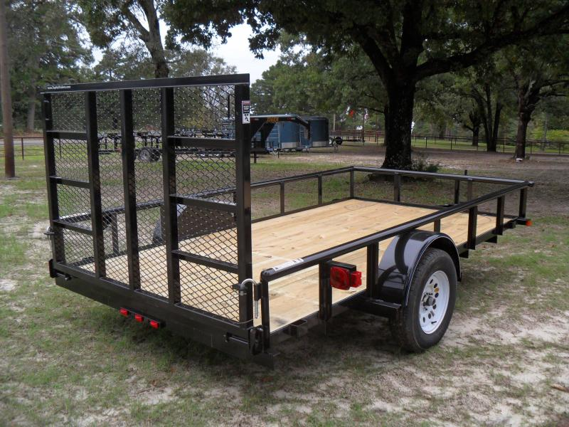 """2020 Top Hat Trailers 12' X 77"""" Pipe top Utility Trailer"""