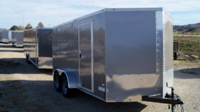 ANVIL AT7X16TA2 Enclosed Cargo Trailer SILVER
