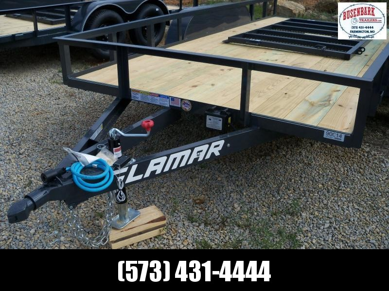14x077 Lamar Charcoal Classic Utility Angle Frame Trailer UT771423
