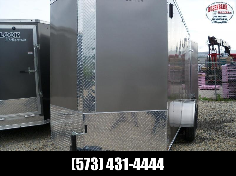 14x072 Anvil Pewter Double Door 7' Height Cargo Trailer AT6X14TA2