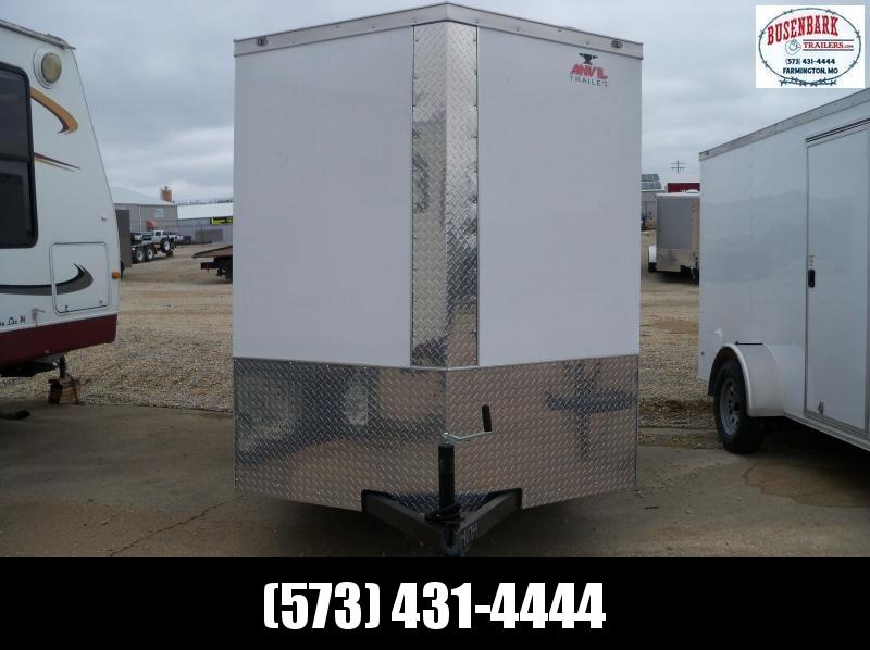 "2020 White Enclosed Anvil Vnose Cargo Trailer AT6X12SA 6'3"" Tall"