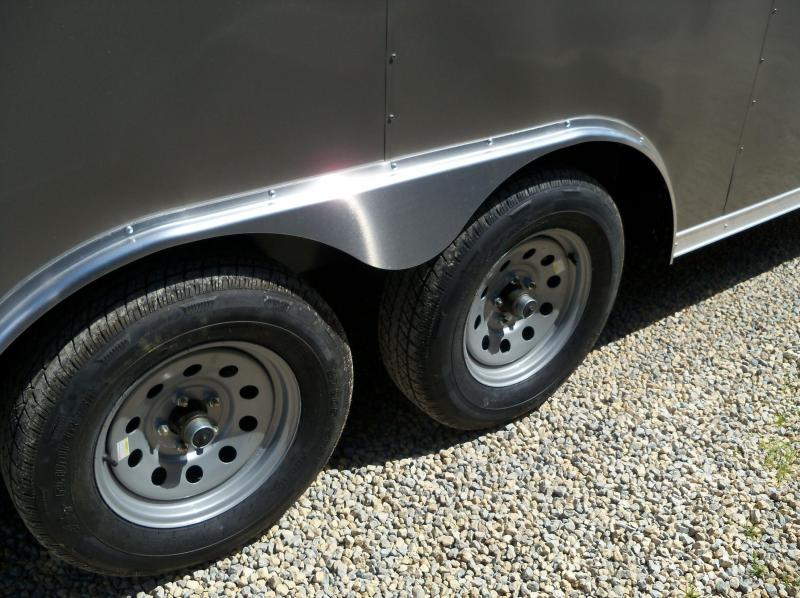 20X085 Anvil Pewter V Nose Cargo Trailer AT85X20TA2