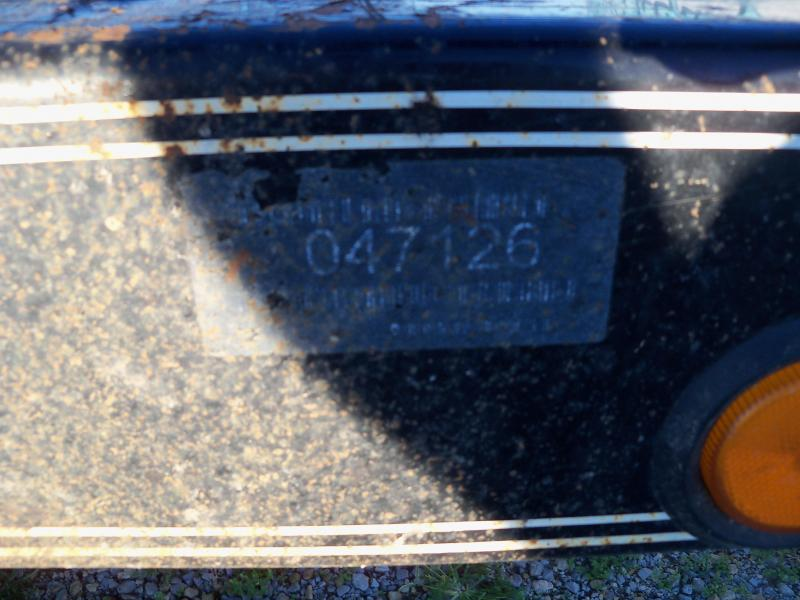 20x102 Load Trail Black Used 2' Dove Tail Carhauler CH0220072