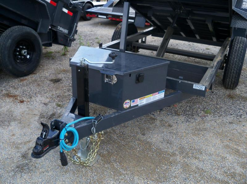 10X060 Lamar Charcoal Mini Dump Trailer 1 Axle DS601017
