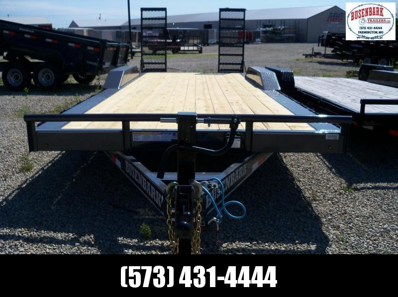 "22x102 Lamar Charcoal Equipment Hauler Utility Trailer  2' Dove 24"" HD Stand Up Ramps H6022227"