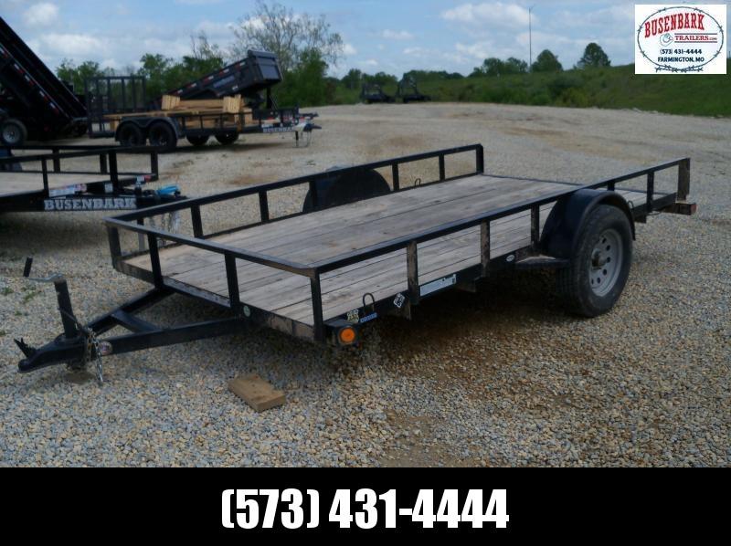 12X077 Load Trail Black Used Utility Trailer SE77120