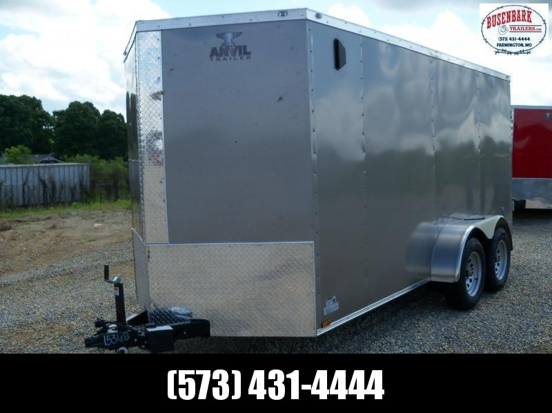 14X072 Anvil Pewter Double Door Cargo Trailer AT6X14TA