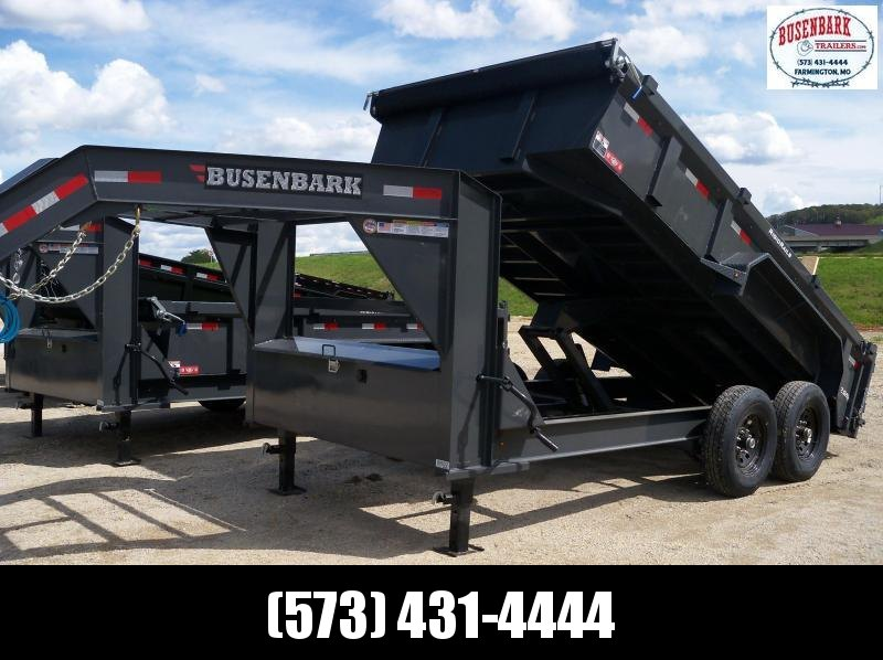 14x083 Lamar Charcoal Gooseneck Low Pro Dump Trailer DL831427
