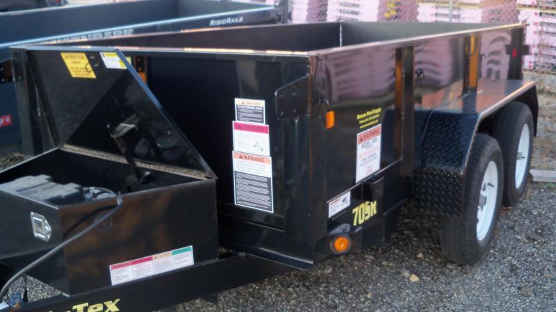 "60"" X 10' Tandem Axle Single Ram Dump Trailer USED"