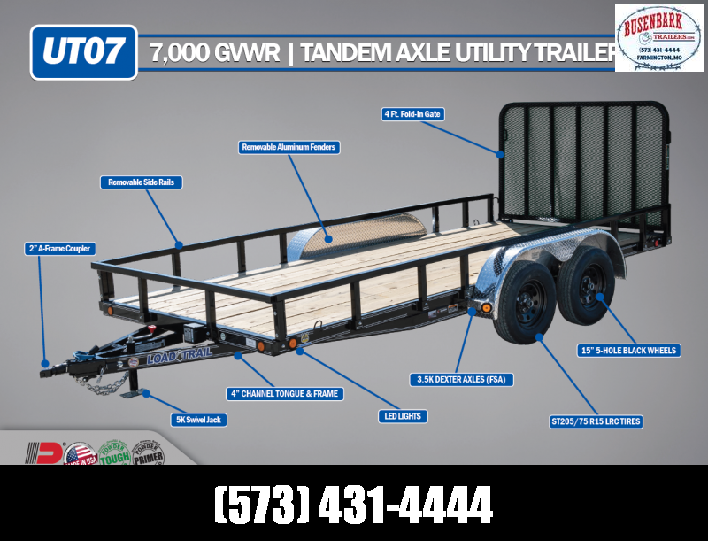 2020 Load Trail XT8313032 Utility Trailer