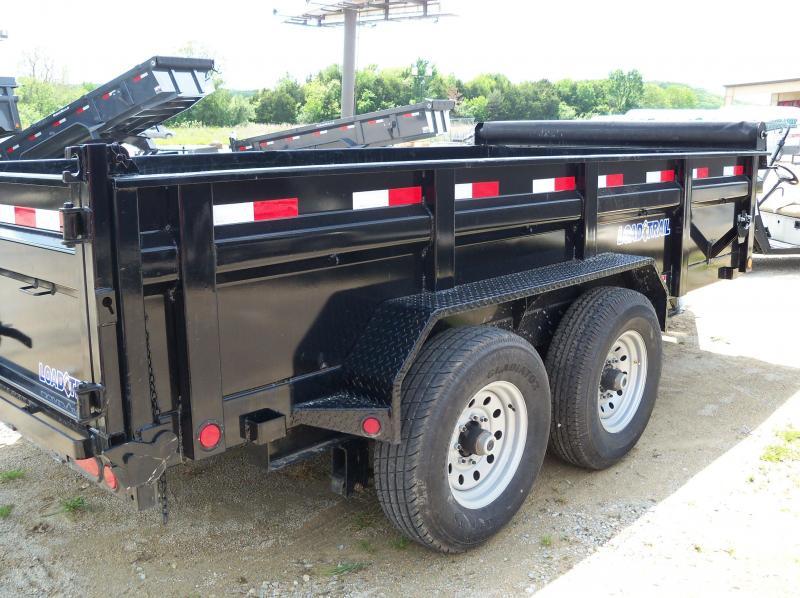 14x083 Load Trail Black Tandem Axle Dump Trailer Scissor Lift DT8314072