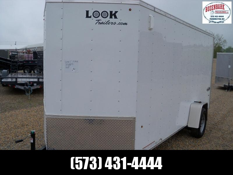 Look Trailers Element WHITE Cargo Flat Top Cargo / Enclosed Trailer EWLC6X14SI2