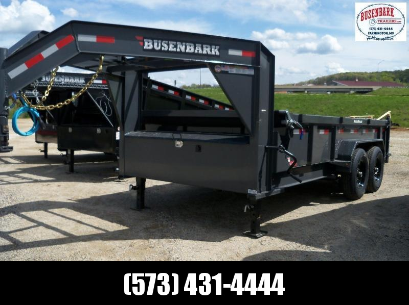 14X083 Lamar Charcoal Gooseneck Low Pro Dump Trailers DL831427