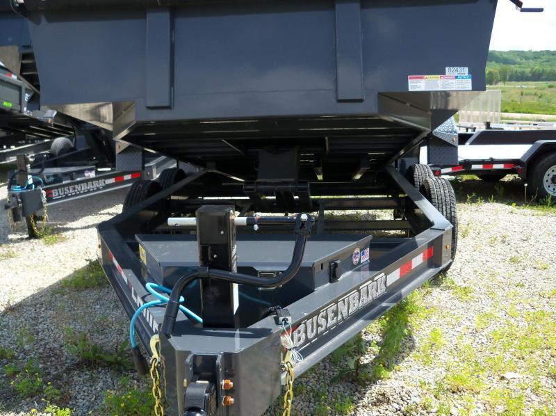 14X083 Lamar Charcoal Low Pro Dump Trailer Spreader Gate W/Slide In Ramps DL831427