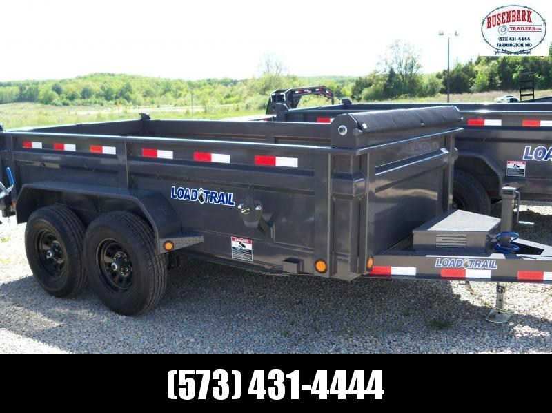 12X072 Load Trail Gray Dump Trailer Max Step Slide In Ramps DT7212052