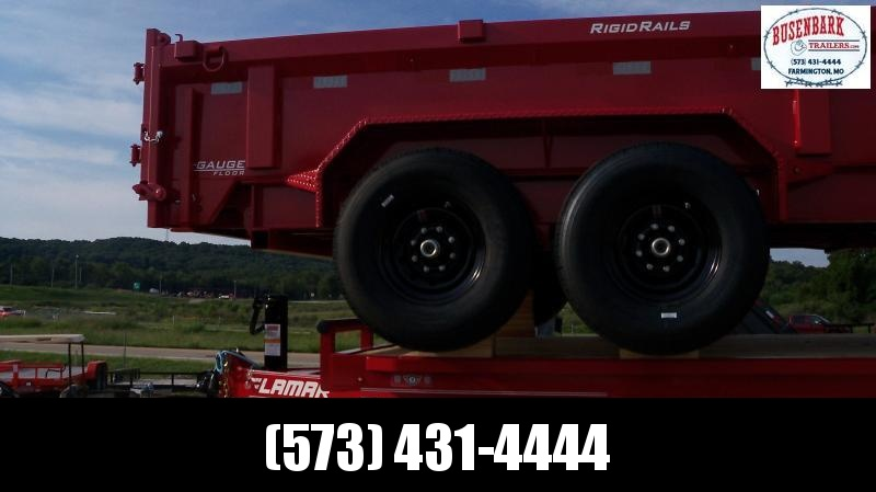 "83"" X 14' LOW-PRO DUMP 14K RED 14 PLY TIRES DL831427"