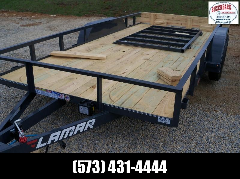 16x083 Lamar Charcoal Classic Utility Angle Frame Trailer UT831623