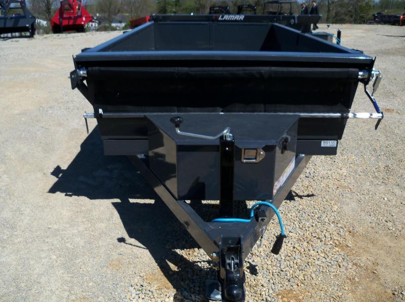 10x060 Lamar Charcoal Mini Dump Trailer (2) Axles DS601023