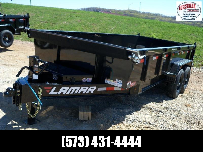 16x083 Lamar Black Low Pro Dump Trailer DL831627