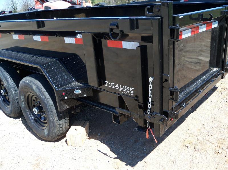 16x083 Lamar Black Low Pro Dump Trailer DL831627