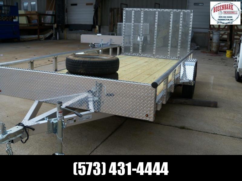 14X077 Blacktrail Aluminum Utility Trailer 4' Gate BRBUT1477