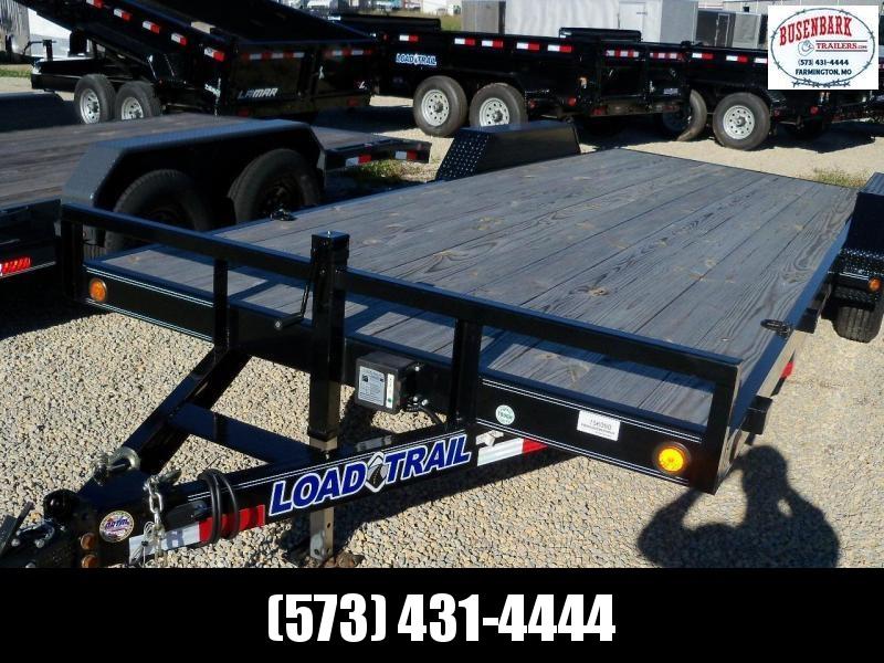 20x083 Load Trail Black Carhauler Diamond Plate Fenders CH8320072
