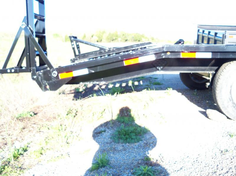 24x102 Lamar Black Gooseneck Flatbed Deck Over Trailer F8022427
