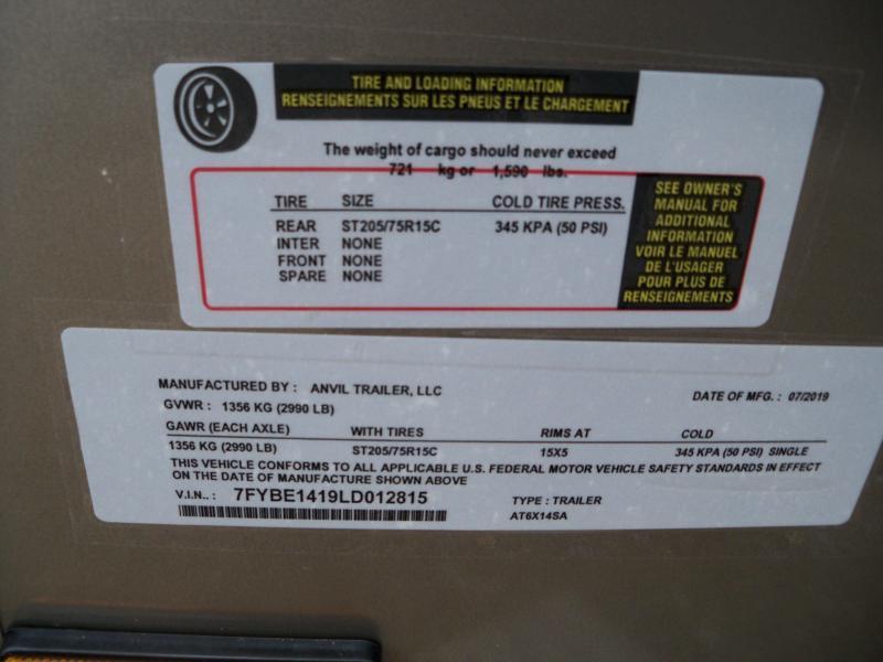 Anvil AT6X14SA  DBL REAR DOOR PEWTER
