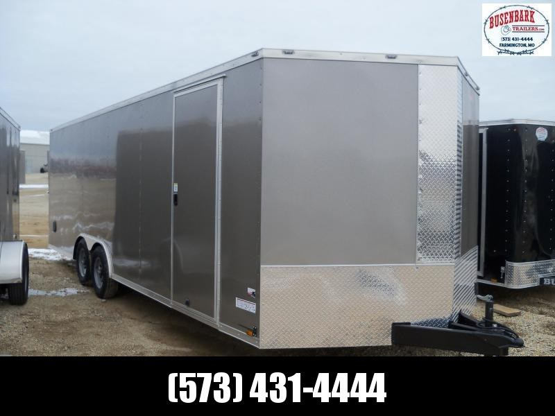 Anvil AT85X24TA3 Enclosed Cargo Trailer PEWTER 5200#AXLES, SIDE VENTS,