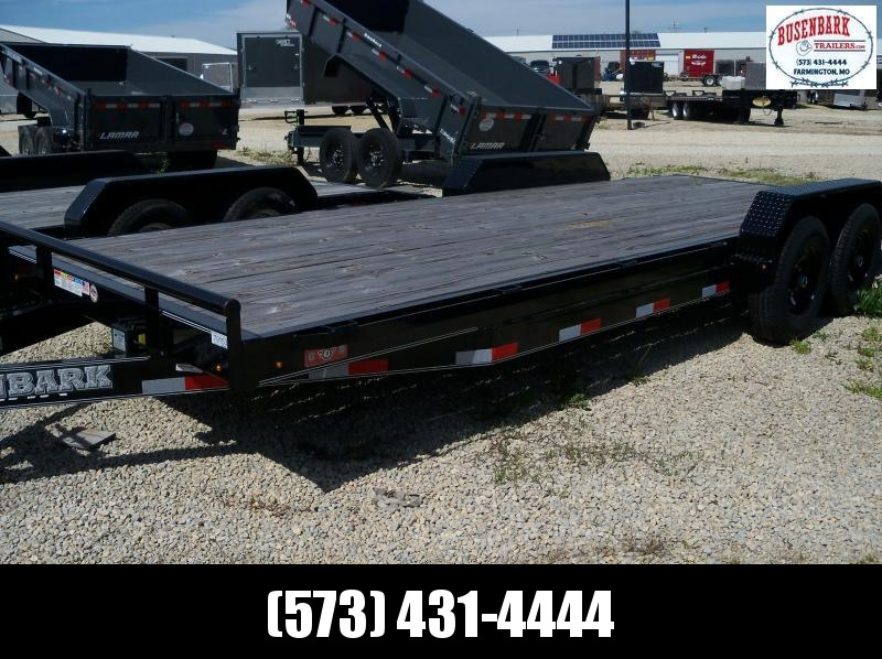 22X083 Lamar Black Equipment Hauler 2' Dove 5' Slide In Ramps H6832227
