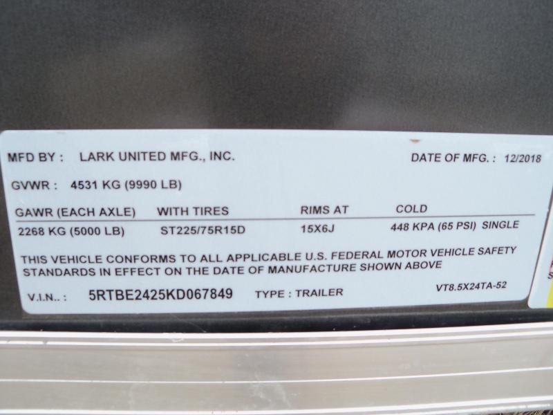 24X102 Lark Charcoal Cargo Trailer VT8.5X24TA-52
