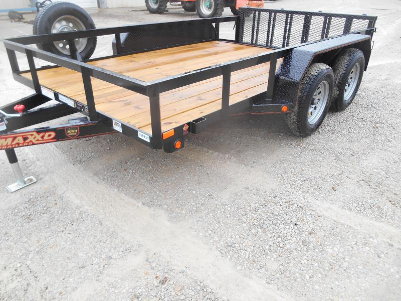 2019 Maxxd Trailers Angle Tandem Axle Utility Trailer