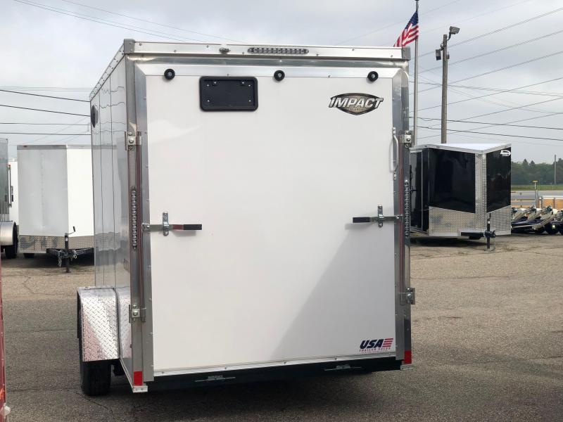 *2019 Model Clearance* 6 x 12 Impact Trailers Tremor Enclosed Cargo Trailer w/ Extra 6 in of height and Blackout Package