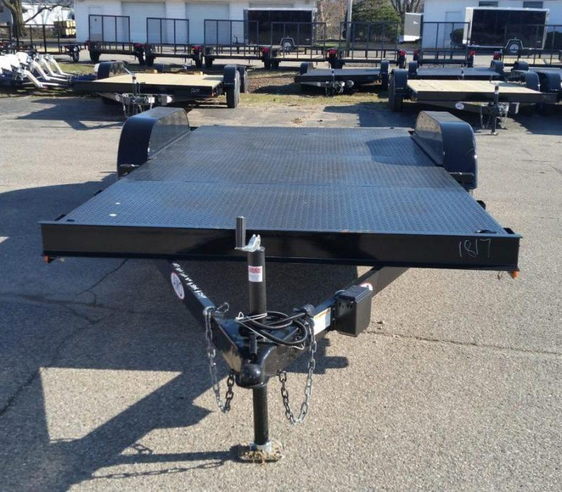 18ft Steel Deck Car Hauler w/ 2 Axle Brake
