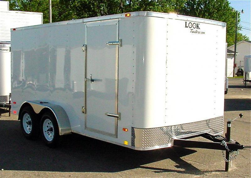 7x14 LOOK Enclosed Trailer w/ Ramp Door