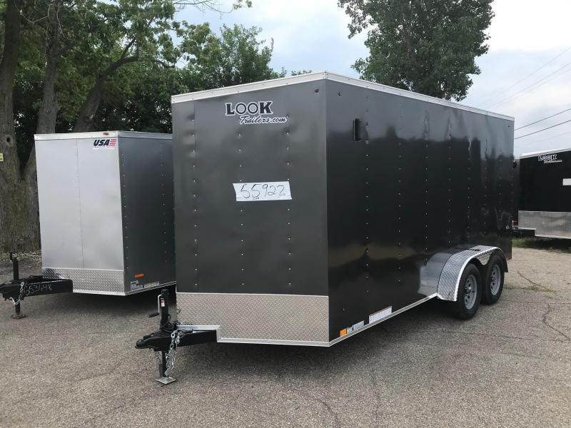 "7x16 LOOK DLX - 12"" additional height - w/ Ramp Door"