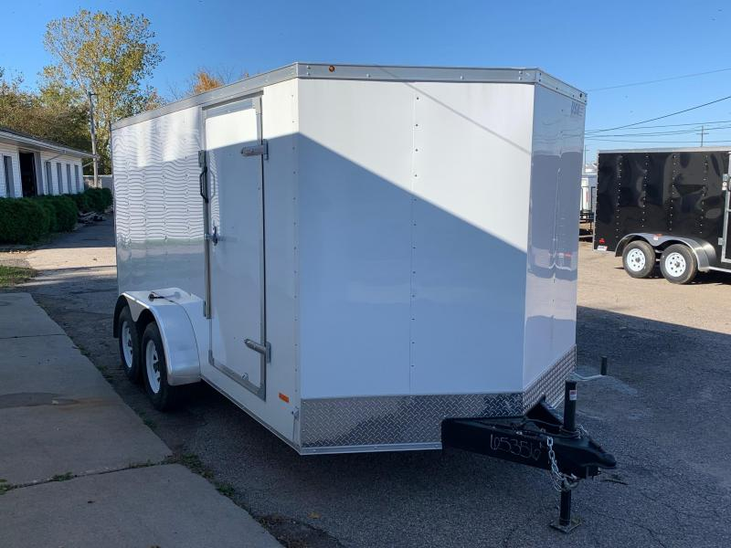 7x16 USA Model w/ Ramp Door (White)
