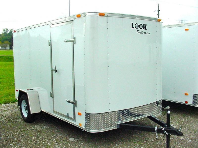 *OLD STOCK* 6x10 LOOK Enclosed Trailer w/ Barn Doors (Single)