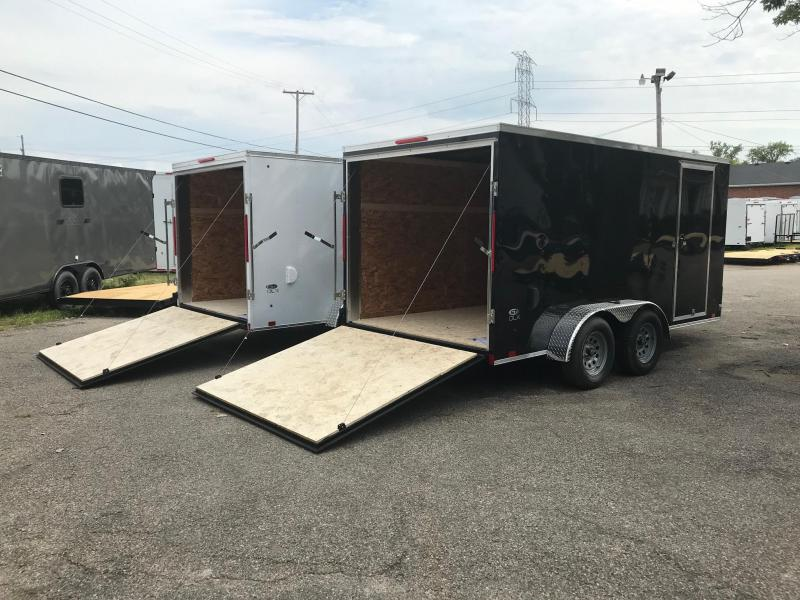 7x14 DLX Model Mid-Level Trailer - HIGH QUALITY FOR LOW PRICE!