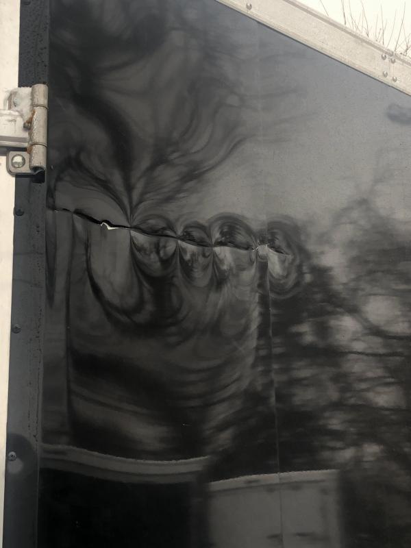 7x29ft 5-place Snow Trailer - 7ft Interior - All Aluminum *Damaged Exterior*